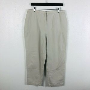 Eileen Fisher Size Large Ankle Pants Tan Beige